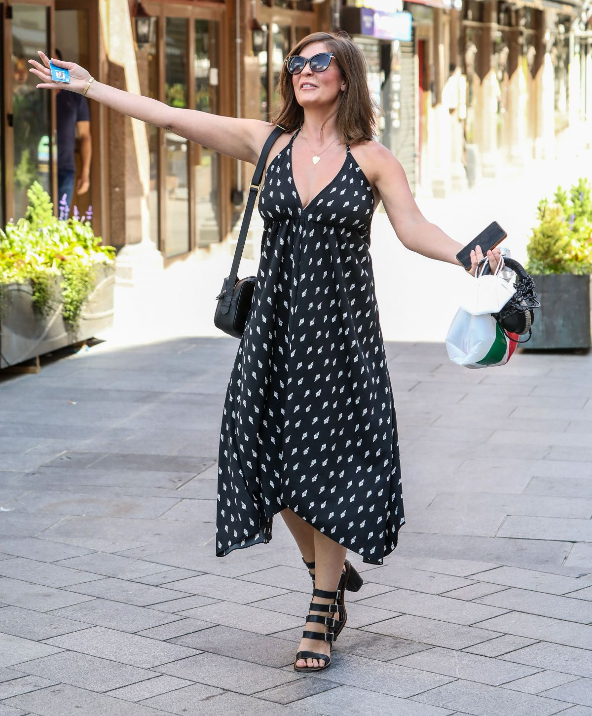 Lucy Horobin Seen Arriving At The Global Radio Studios In