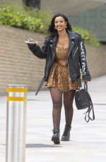 Maya Jama Leaving Channel 4 studios in London