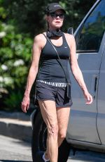 Melanie Griffith Is pictured heading out for a walk in Los Angeles
