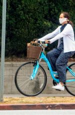 Molly Shannon Goes for a ride on her bike in West Hollywood