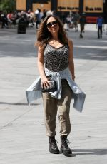 Myleene Klass Arriving to the Smooth Radio in London