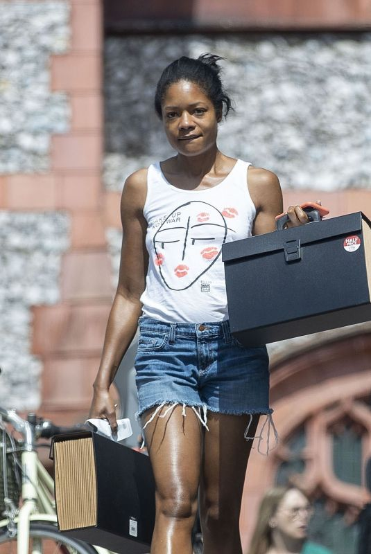Naomie Harris Seen running errand in North London