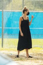 Nicole Richie Drops her son Sparrow Madden for soccer practice in Los Angeles