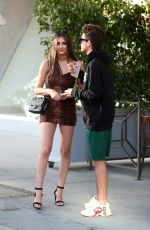 Nicolette Gray and her rumored boyfriend go on a dinner date at Il Pastaio in Beverly Hills