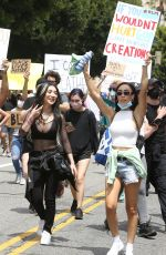 Nikita Dragun Marches with fellow protesters in Hollywood