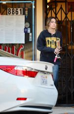 Paris Jackson Leaves a tattoo parlor in West Hollywood
