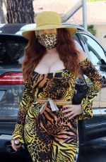 Phoebe Price Dons lots of animal print in L.A. during a grocery run at Ralph
