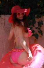 Phoebe Price Having a good time pool side on Sunday