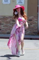 Phoebe Price Playing with a ball and showing off her summer dress in Studio City