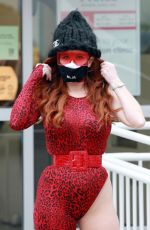 Phoebe Price Shopping at Petco and supporting BLM on her facemask