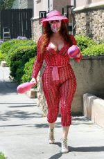 Phoebe Price Shows off her see-through outfit
