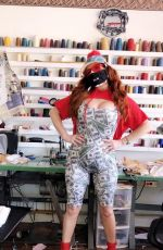 Phoebe Price Shows off her variety of face masks in West Hollywood