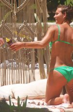 Rachel Cook In a green bikini in Tulum