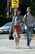 Rainey and Margaret Qualley Walking barefoot in Hollywood