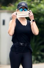 Reese Witherspoon Has an animated walk and talk with her yoga teacher in her Brentwood neighborhood