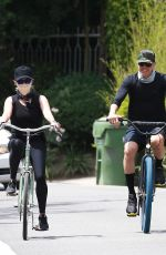 Reese Witherspoon Riding a bike in Malibu