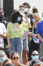 Rumer Willis Supports Juneteenth - BLM Rally in West Hollywood