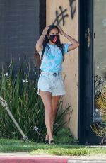 Sara Sampaio Takes her dogs for a walk in Los Angeles