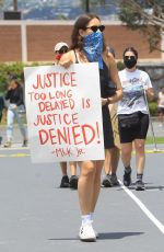 Sarah Sutherland At a protest in West Hollywood