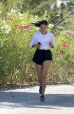 Shanina Shaik Seen jogging while holidaying in Ibiza