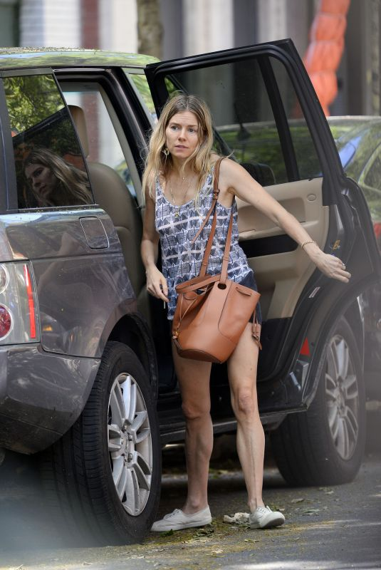 Sienna Miller Heading out of NYC