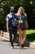 Sophie Turner Out for a walk in Los Angeles