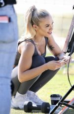 Tammy Hembrow Shooting For Her Fitness App, Mermaid Beach, Gold Coast