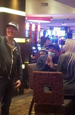 Tao Wickrath Spotted playing roulette just minutes after the reopening of the Golden Nugget hotel in Las Vegas