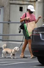 Vanessa Hudgens Grabbing dog food with her pooch in Hollywood