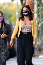 Vanessa Hudgens Out with her mommy at Trattoria Farfalla in LA