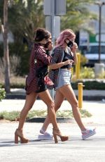 Vanessa Hudgens Stops by a coffee shop and CVS pharmacy with a friend in Los Angeles