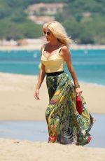 Victoria Silvstedt At the famous Club 55 in St Tropez