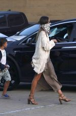Alessandra Ambrosio Arriving at Nobu with her son for dinner in Malibu