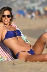 Alessandra Ambrosio Doing a golden hour beach photoshoot in Malibu