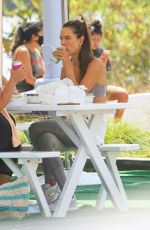 Alessandra Ambrosio Goes makeup-free as she enjoys lunch at Broad Street Oyster Company in Malibu,