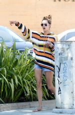 Alessandra Ambrosio Heads out shopping with a friend and family in Malibu