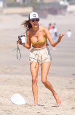 Alessandra Ambrosio On the beach in Malibu