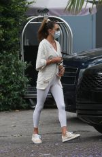 Alessandra Ambrosio Pictured at The Bel Air Hotel ahead of a spa session
