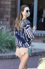 Alessandra Ambrosio Seen running errands with her daughter in Pacific Palisades