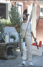 Alessandra Ambrosio Shopping at Hudson Grace in Brentwood