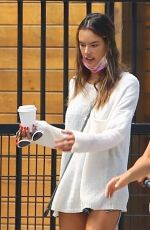 Alessandra Ambrosio Steps out for some coffee a friend in Brentwood