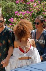 Alicia Vikander As she leaves lunch with friends in Ibiza