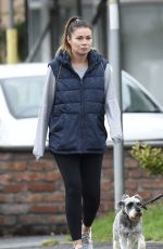 Alison King Make up free out and about walking with her friend and her dogs in Cheshire