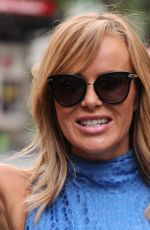 Amanda Holden Leaves the Hearts radio station in London