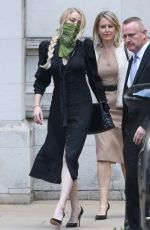 Amber Heard Leaving the High Court in London