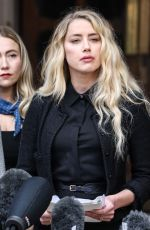 Amber Heard Out At the Royal Courts of Justice in London