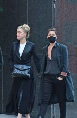 Amber Heard Out in London with Bianca Butti