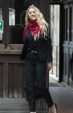 Amber Heards At the Royal Courts of Justice in London