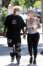 Amber Rose and Boyfriend Alexander Edwards Head Out Holding Hands in West Hollywood