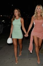 Amber Turner and Georgia Steel seen at Sumosan Twiga for Ambers birthday night out